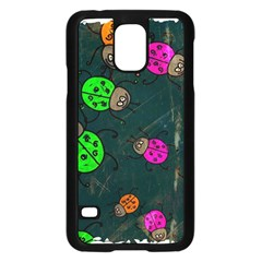 Abstract Bug Insect Pattern Samsung Galaxy S5 Case (black)