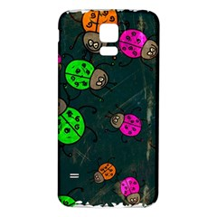 Abstract Bug Insect Pattern Samsung Galaxy S5 Back Case (white)