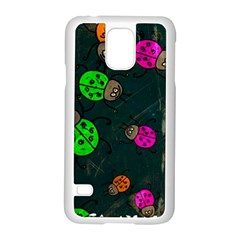Abstract Bug Insect Pattern Samsung Galaxy S5 Case (white) by BangZart