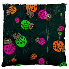 Abstract Bug Insect Pattern Large Flano Cushion Case (two Sides) by BangZart