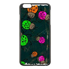 Abstract Bug Insect Pattern Apple Iphone 6 Plus/6s Plus Black Enamel Case