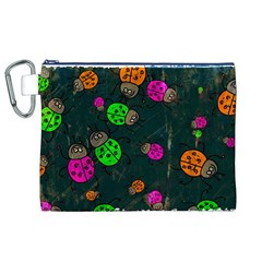 Abstract Bug Insect Pattern Canvas Cosmetic Bag (xl) by BangZart