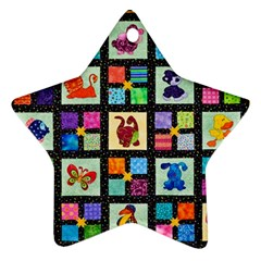 Animal Party Pattern Ornament (star) by BangZart