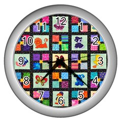 Animal Party Pattern Wall Clocks (silver)  by BangZart