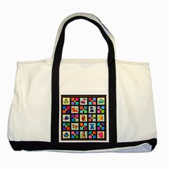 Animal Party Pattern Two Tone Tote Bag by BangZart