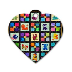 Animal Party Pattern Dog Tag Heart (two Sides)