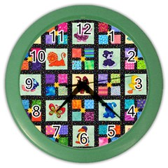 Animal Party Pattern Color Wall Clocks by BangZart