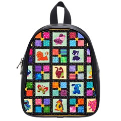 Animal Party Pattern School Bags (small)  by BangZart