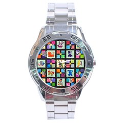 Animal Party Pattern Stainless Steel Analogue Watch by BangZart