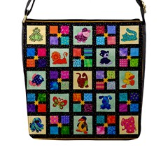Animal Party Pattern Flap Messenger Bag (l)