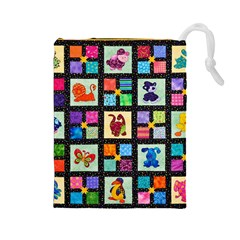 Animal Party Pattern Drawstring Pouches (large)
