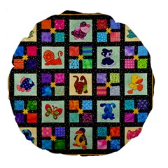Animal Party Pattern Large 18  Premium Flano Round Cushions by BangZart