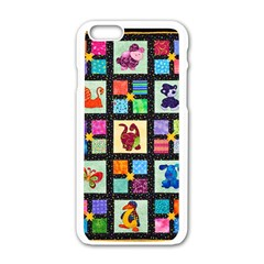 Animal Party Pattern Apple Iphone 6/6s White Enamel Case by BangZart