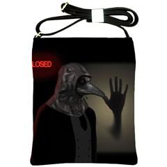 Night Walk Shoulder Sling Bags by Valentinaart