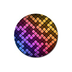 Abstract Small Block Pattern Magnet 3  (round) by BangZart