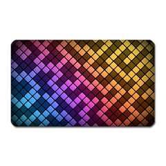 Abstract Small Block Pattern Magnet (rectangular) by BangZart