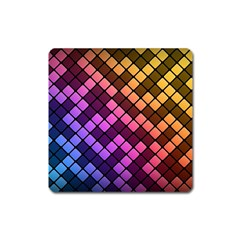 Abstract Small Block Pattern Square Magnet