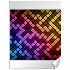 Abstract Small Block Pattern Canvas 36  X 48