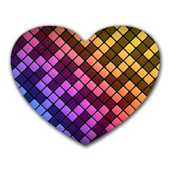 Abstract Small Block Pattern Heart Mousepads