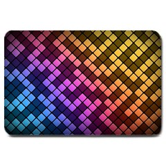 Abstract Small Block Pattern Large Doormat  by BangZart