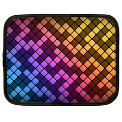 Abstract Small Block Pattern Netbook Case (xxl)