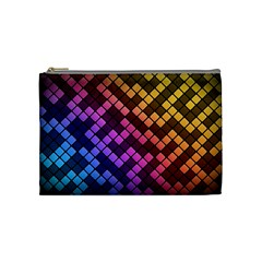 Abstract Small Block Pattern Cosmetic Bag (medium)  by BangZart