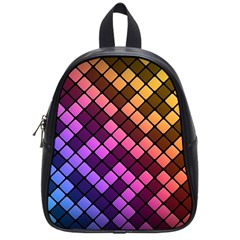Abstract Small Block Pattern School Bags (small)  by BangZart
