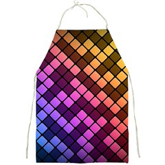 Abstract Small Block Pattern Full Print Aprons by BangZart