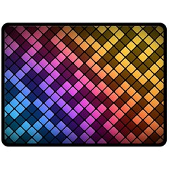 Abstract Small Block Pattern Fleece Blanket (large)  by BangZart
