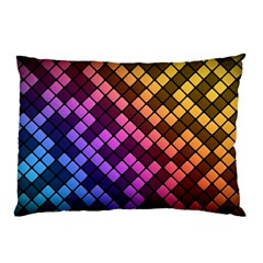 Abstract Small Block Pattern Pillow Case (two Sides)