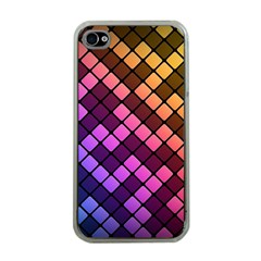 Abstract Small Block Pattern Apple Iphone 4 Case (clear)