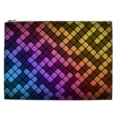 Abstract Small Block Pattern Cosmetic Bag (xxl)  by BangZart