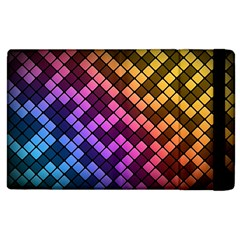 Abstract Small Block Pattern Apple Ipad 3/4 Flip Case by BangZart
