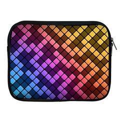 Abstract Small Block Pattern Apple Ipad 2/3/4 Zipper Cases