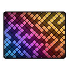 Abstract Small Block Pattern Double Sided Fleece Blanket (small)  by BangZart