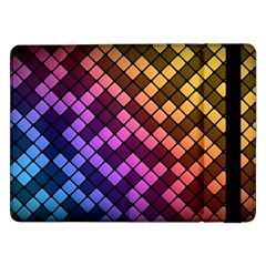 Abstract Small Block Pattern Samsung Galaxy Tab Pro 12 2  Flip Case by BangZart