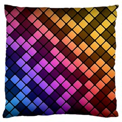 Abstract Small Block Pattern Standard Flano Cushion Case (two Sides) by BangZart