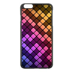 Abstract Small Block Pattern Apple Iphone 6 Plus/6s Plus Black Enamel Case by BangZart