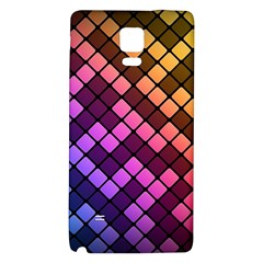 Abstract Small Block Pattern Galaxy Note 4 Back Case by BangZart