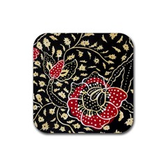 Art Batik Pattern Rubber Square Coaster (4 Pack)  by BangZart