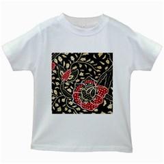 Art Batik Pattern Kids White T Shirts
