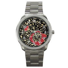 Art Batik Pattern Sport Metal Watch by BangZart