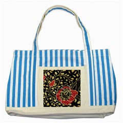 Art Batik Pattern Striped Blue Tote Bag
