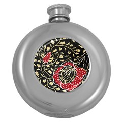 Art Batik Pattern Round Hip Flask (5 Oz) by BangZart