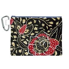 Art Batik Pattern Canvas Cosmetic Bag (xl) by BangZart
