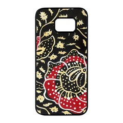 Art Batik Pattern Samsung Galaxy S7 Edge Black Seamless Case
