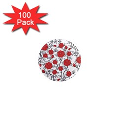 Texture Roses Flowers 1  Mini Magnets (100 Pack)  by BangZart