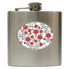 Texture Roses Flowers Hip Flask (6 Oz) by BangZart