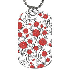 Texture Roses Flowers Dog Tag (two Sides) by BangZart
