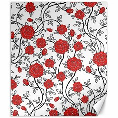 Texture Roses Flowers Canvas 20  X 24   by BangZart